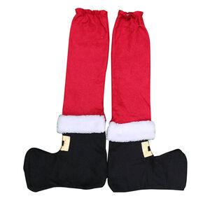 4 Pack Santa Table Leg Covers