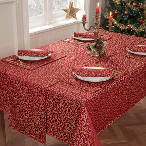Versailles Table Cloth 160x230cm - Red/Gold