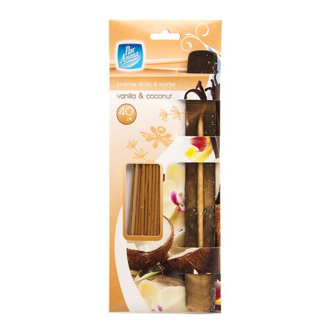 Pan Aroma Incense Sticks & Holder Vanilla&Coconut
