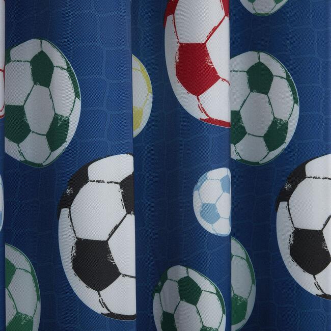 FOOTBALL FRENZY BLUE 66x54 Curtain
