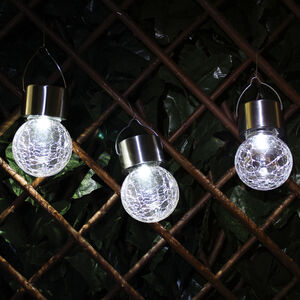 3 Hanging Crackle Ball Lights