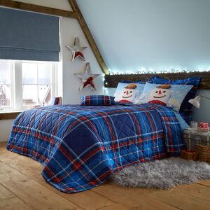 Snowman Check Bedspread 200 x 220cm