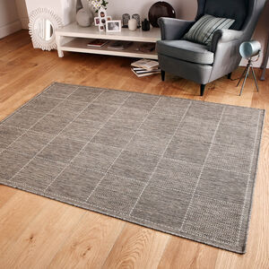 CHECKERED FLATWEAVE 120x160cm Grey