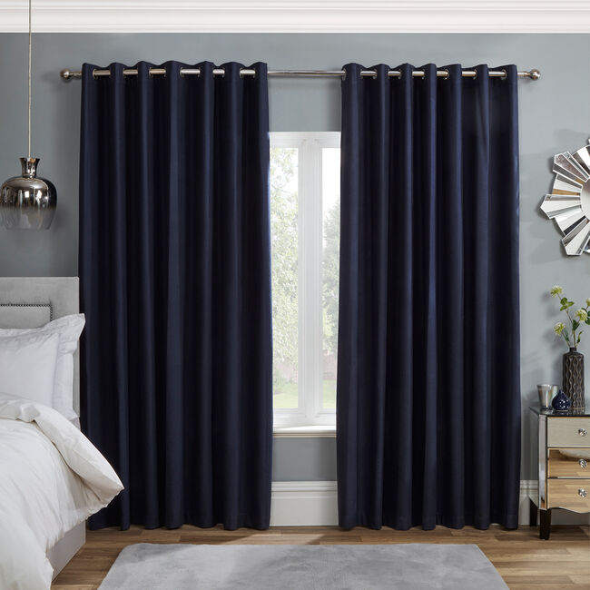 BLACKOUT & THERMAL BOXES NAVY 66x54 Curtain