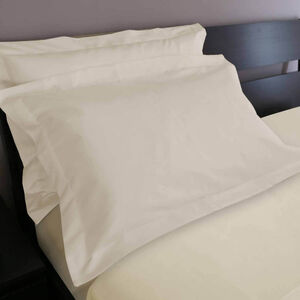 200TC Cotton Oxford Pillowcase Pair - Cream