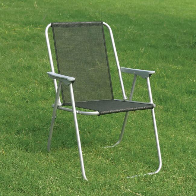 Black Folding Camping Chair