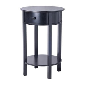 Heritage Clara Round Side Table Black