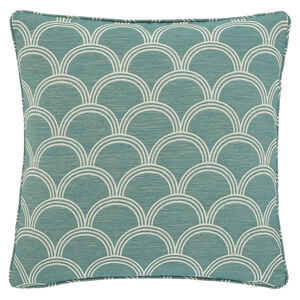 Geo Jaquard Cushion 45x45cm - Green