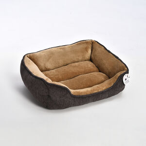 Chenille & Coral Fleece Pet Bed - Medium