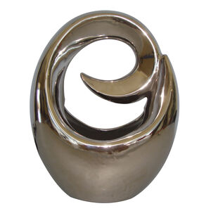 Chrome Sculpture Table Lamp