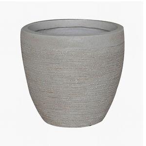 Large Round Beige Fibre Clay Pot