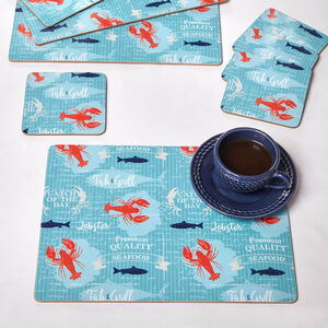 Lobster Placemats & Coasters 4 Pack