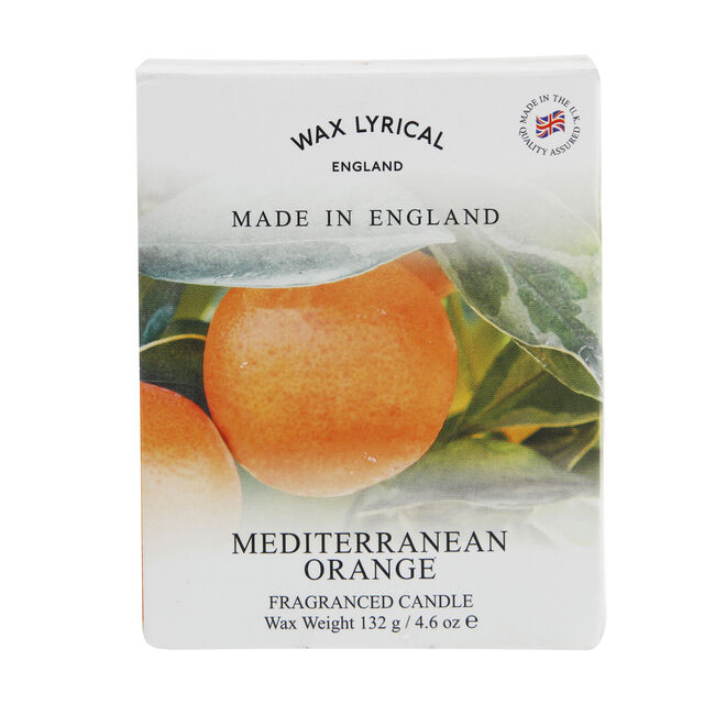 Mediterranean Orange Glass Jar Candle