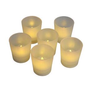 Decorative LED T-Light Jars 6 Pack