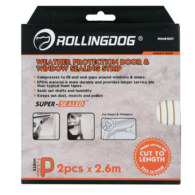 Rolling Dog P-Shape Door & Window Sealing Strip