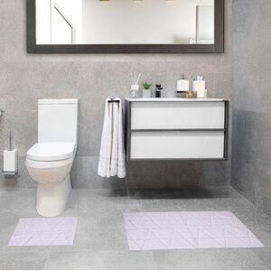 Triangle X-Large Bath Mat 2 Piece - White