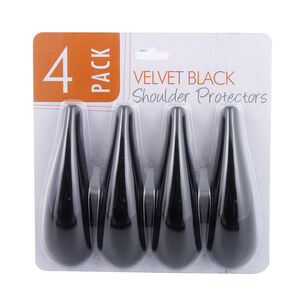 Velvet Black Shoulder Protector 4 Pack
