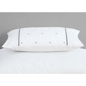 Triangles White/Grey Cushion 30x50cm