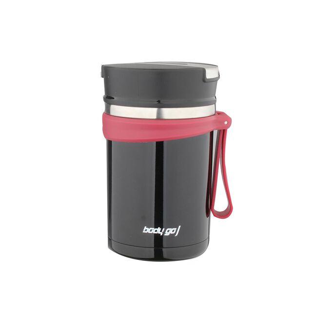 Bodygo Vacuum Food Jar 600ml - Black