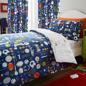 GAMEDAY BLUE/MULTI 66x54 Curtain