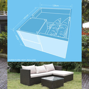 The 380GSM Lounger Set Furniture Cover
