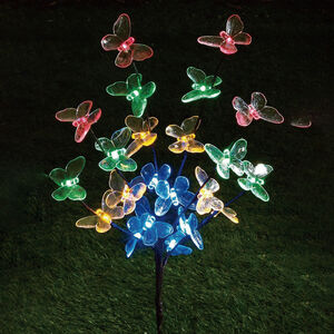 Butterfly Tree Solar Light