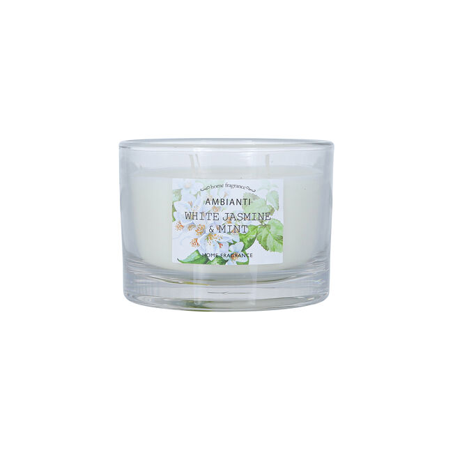 White Jasmine & Mint 3 Wick Scented Candle