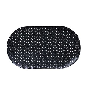 Triangles Bath Mat - Black
