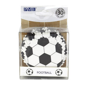 PME Foiled Lined Football Cupcake Cases - 30 Piece