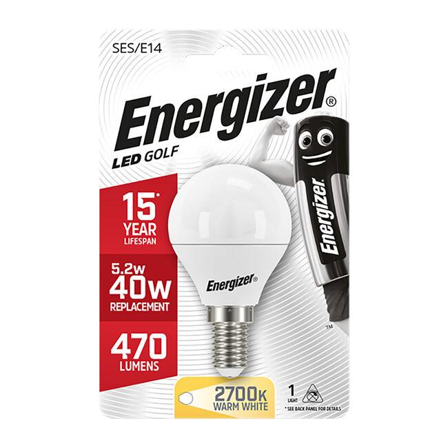 Energizer E14 LED Golf Bulb Opal 59W (EQ40W)