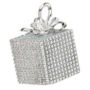 Silver Diamante Tree Decoration 10cm
