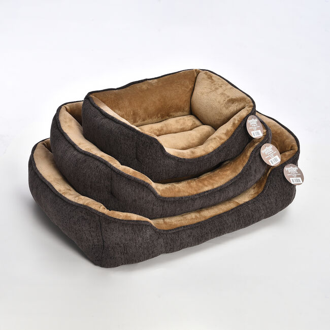 Chenille & Coral Fleece Pet Bed - Large