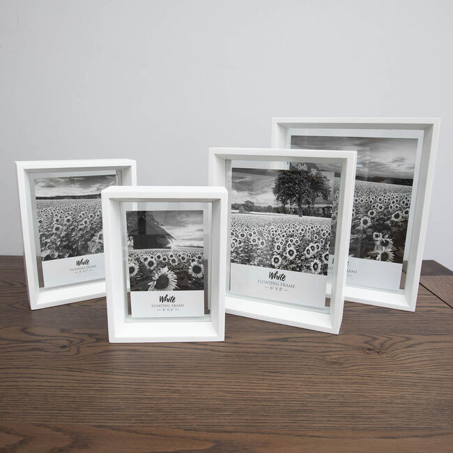 "Floating Matt Frame 6"" x 8"" - White"