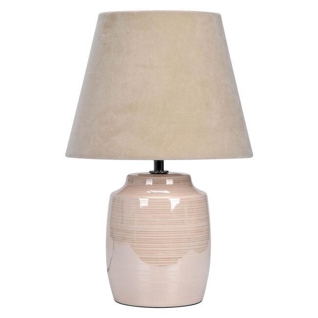 Glazed Table Lamp - Cream