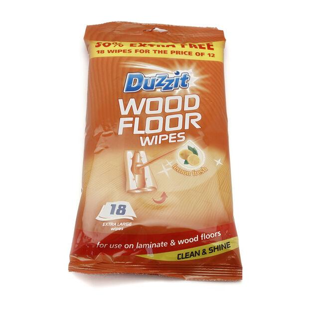 Wooden Floor Wipes 18 Pack