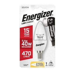 Energizer E14 LED Candle Bulb Clear 59W (EQ40W)