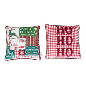Vintage Plaid Cushion Covers 45 x 45cm - 2 Pack