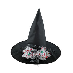 Witches Hat With Watching White Rose Eyes