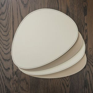 Reversible Oval Cream/Taupe Placemats