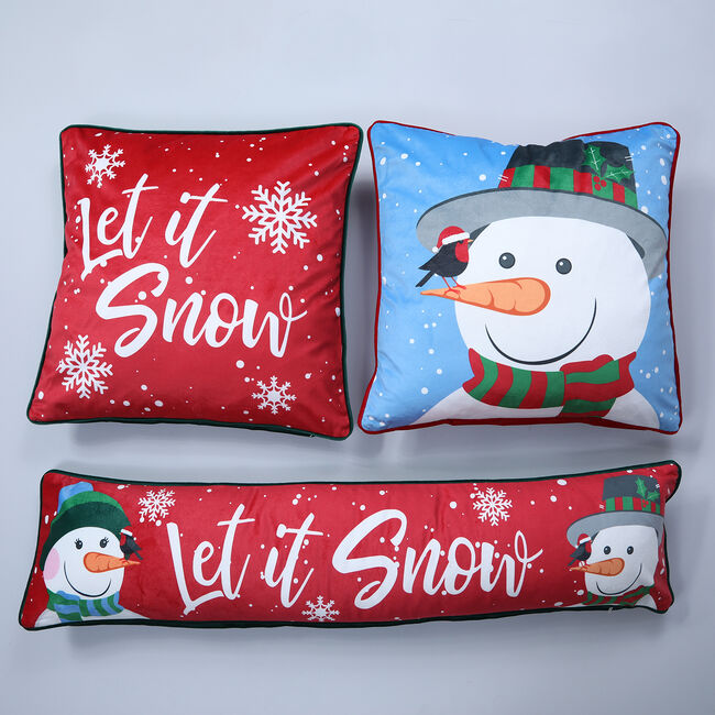 Snow Love Draught Excluder 22 x 90 cm