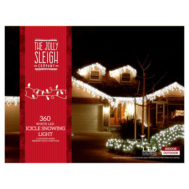 360 White Icicle LED Snowing Lights