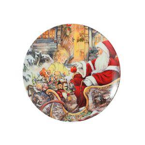 Santa Merry Christmas Cookie Plate