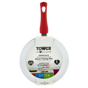 Tower Ceramic Red Frying Pan 24cm