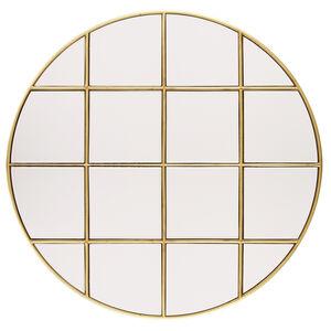 76cm Gold Box Panelled Mirror