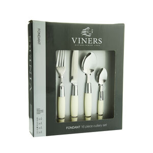 Viners Fondant Cream Cutlery Set 16 Piece