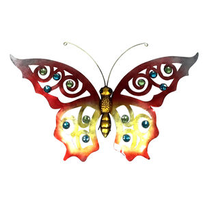 Jewelled Metal Butterfly Garden Wall Art