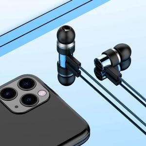 Sonarto Fabric Cable Earphones - Blue