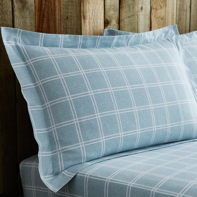 Brushed Cotton Donoghue Check Pillowcase Pair