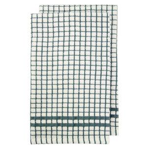 Mono Check Duck Egg Tea Towels 2 Pack