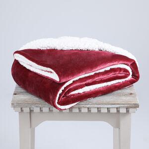 Ruane Mink Sherpa Throw 127x152cm - Berry